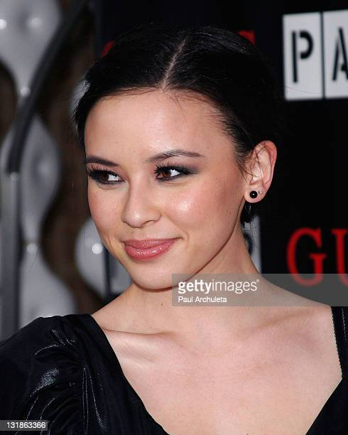 Actress Malese Jow arrives at the Guess and Paper Magazine's 2011 Beautiful People Party at The Standard Hotel on March 29 2011 in Los Angeles...