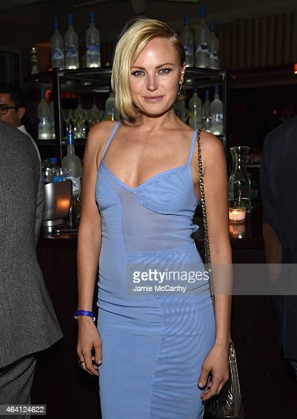 Actress Malin Ackerman attends the Grey Goose hosted Michael Sugar Doug Wald and Warren Zavala preoscar party at Sunset Tower on February 21 2015 in...