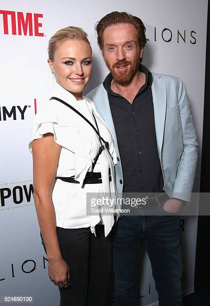 Actress Malin Akerman and actor Damian Lewis attend For Your Consideration Screening and Panel for Showtime's 'Billions' at The WGA Theater on April...
