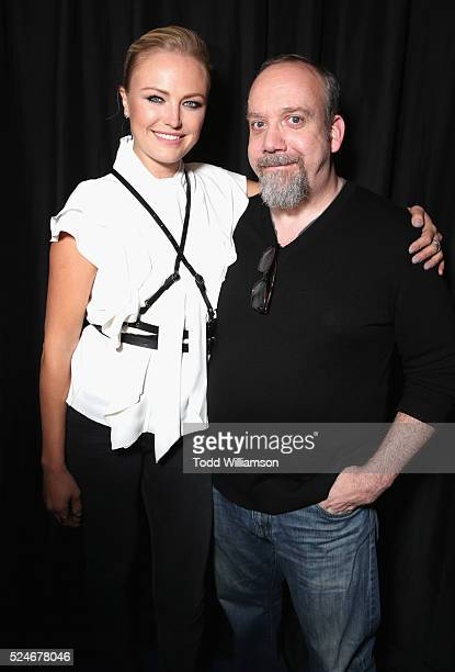 Actress Malin Akerman and actor Paul Giamatti attend For Your Consideration Screening and Panel for Showtime's 'Billions' at The WGA Theater on April...