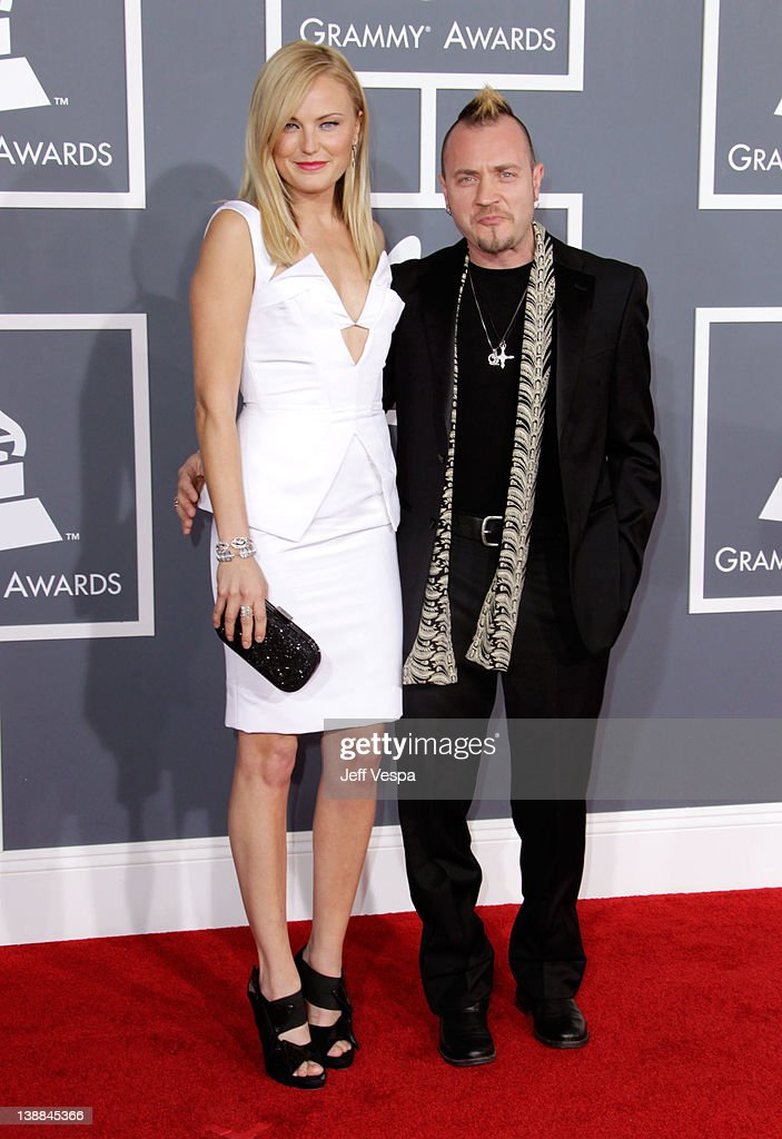 Actress Malin Akerman and Roberto Zincone arrive at The 54th Annual GRAMMY Awards at Staples Center on February 12, 2012 in Los Angeles, California.