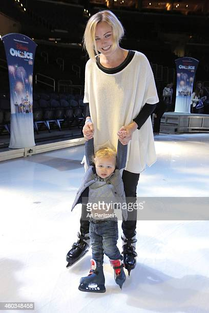 Actress Malin Akerman and son Sebastian attend Disney On Ice Presents Let's Celebrate Presented By Stonyfield YoKids Organic Yogurt Celebrity...