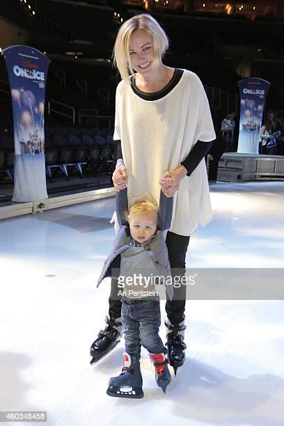 Actress Malin Akerman and son Sebastian attend Disney On Ice Presents Let's Celebrate Presented By Stonyfield YoKids Organic Yogurt Celebrity...
