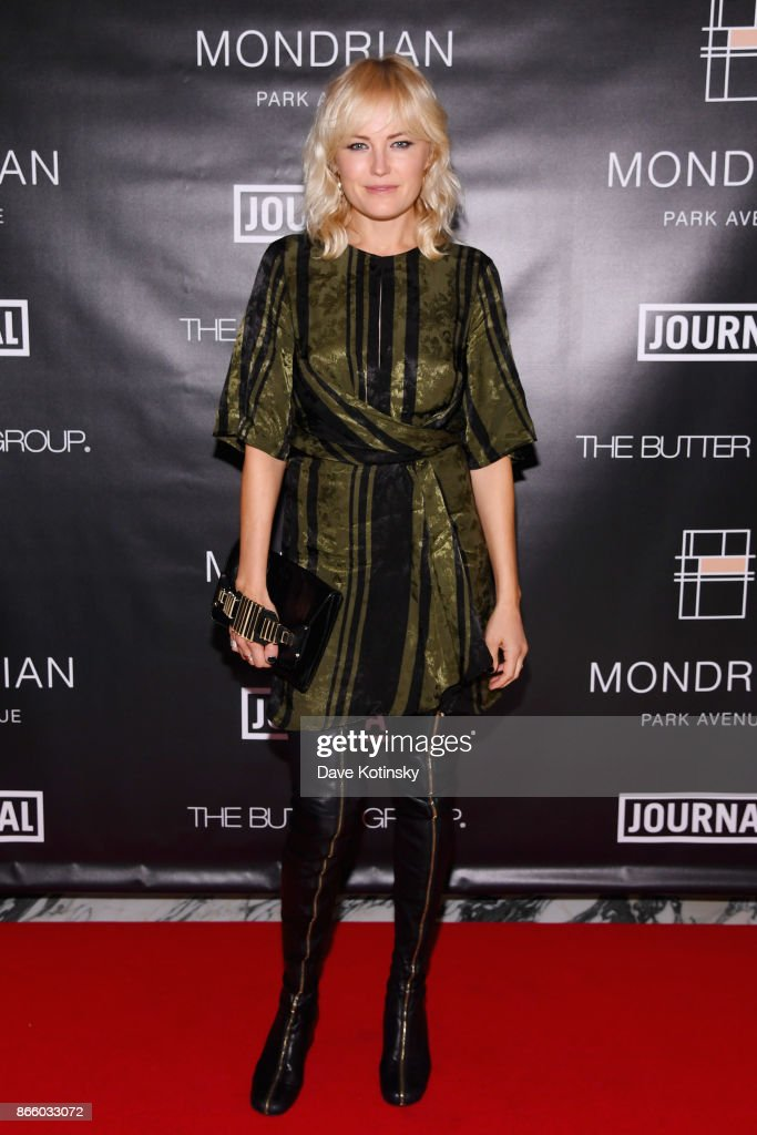 Actress Malin Akerman appears as Journal Hotels celebrate Mondrian Park Avenue's grand opening with special guest Debbie Harry on October 24, 2017 in New York City.