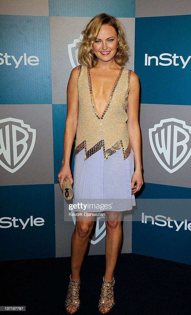 Actress <a gi-track='captionPersonalityLinkClicked' href=/galleries/search?phrase=Malin+Akerman&family=editorial&specificpeople=598245 ng-click='$event.stopPropagation()'>Malin Akerman</a> arrives at 13th Annual Warner Bros. And InStyle Golden Globe Awards After Party at The Beverly Hilton hotel on January 15, 2012 in Beverly Hills, California.