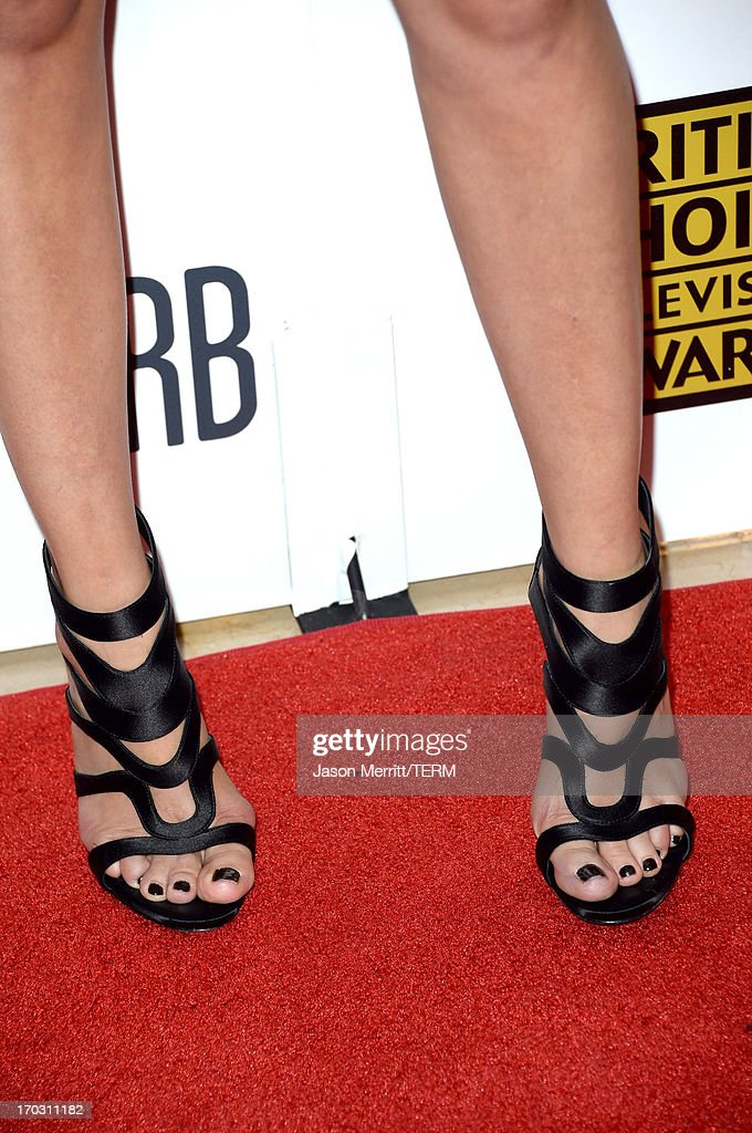 Actress Malin Akerman (fashion detail) arrives at Broadcast Television Journalists Association's third annual Critics' Choice Television Awards at The Beverly Hilton Hotel on June 10, 2013 in Beverly Hills, California.