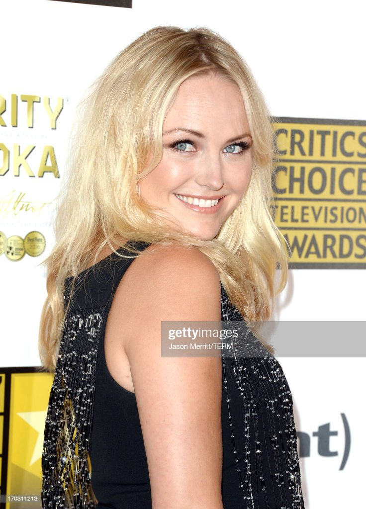 Actress Malin Akerman arrives at Broadcast Television Journalists Association's third annual Critics' Choice Television Awards at The Beverly Hilton Hotel on June 10, 2013 in Beverly Hills, California.