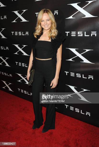 Actress Malin Akerman arrives at Tesla Worldwide Debut of Model X on February 9 2012 in Los Angeles California