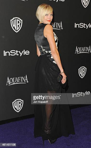 Actress Malin Akerman arrives at the 16th Annual Warner Bros And InStyle PostGolden Globe Party at The Beverly Hilton Hotel on January 11 2015 in...