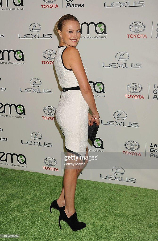 Actress Malin Akerman arrives at the 2013 Environmental Media Awards at Warner Bros. Studios on October 19, 2013 in Burbank, California.
