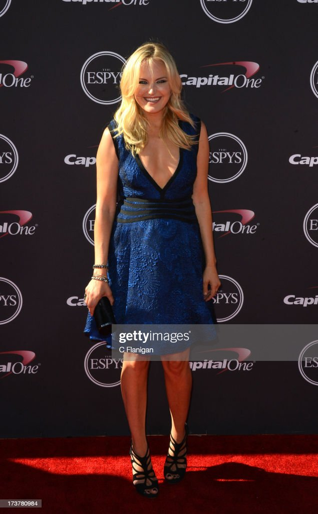 Actress <a gi-track='captionPersonalityLinkClicked' href=/galleries/search?phrase=Malin+Akerman&family=editorial&specificpeople=598245 ng-click='$event.stopPropagation()'>Malin Akerman</a> arrives at the 2013 ESPY Awards at Nokia Theatre L.A. Live on July 17, 2013 in Los Angeles, California.