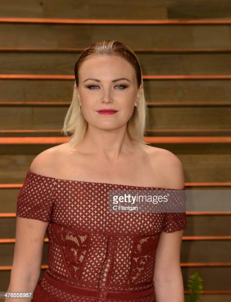 Actress Malin Akerman arrives at the 2014 Vanity Fair Oscar Party Hosted By Graydon Carter on March 2 2014 in West Hollywood California