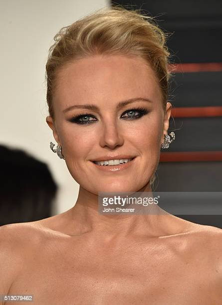 Actress Malin Akerman arrives at the 2016 Vanity Fair Oscar Party Hosted By Graydon Carter at Wallis Annenberg Center for the Performing Arts on...