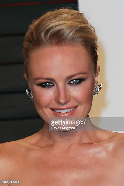 Actress Malin Akerman arrives at the 2016 Vanity Fair Oscar Party Hosted by Graydon Carter at the Wallis Annenberg Center for the Performing Arts on...