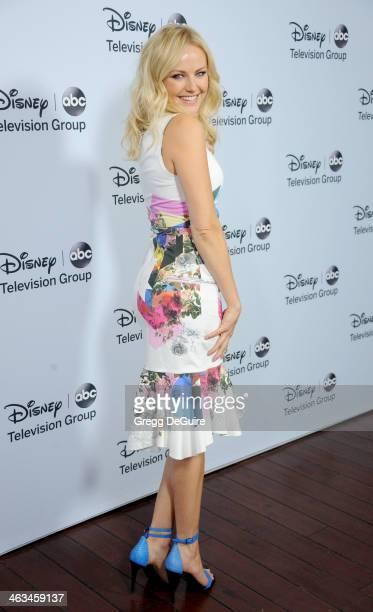 Actress Malin Akerman arrives at the ABC/Disney TCA Winter Press Tour party at The Langham Huntington Hotel and Spa on January 17 2014 in Pasadena...