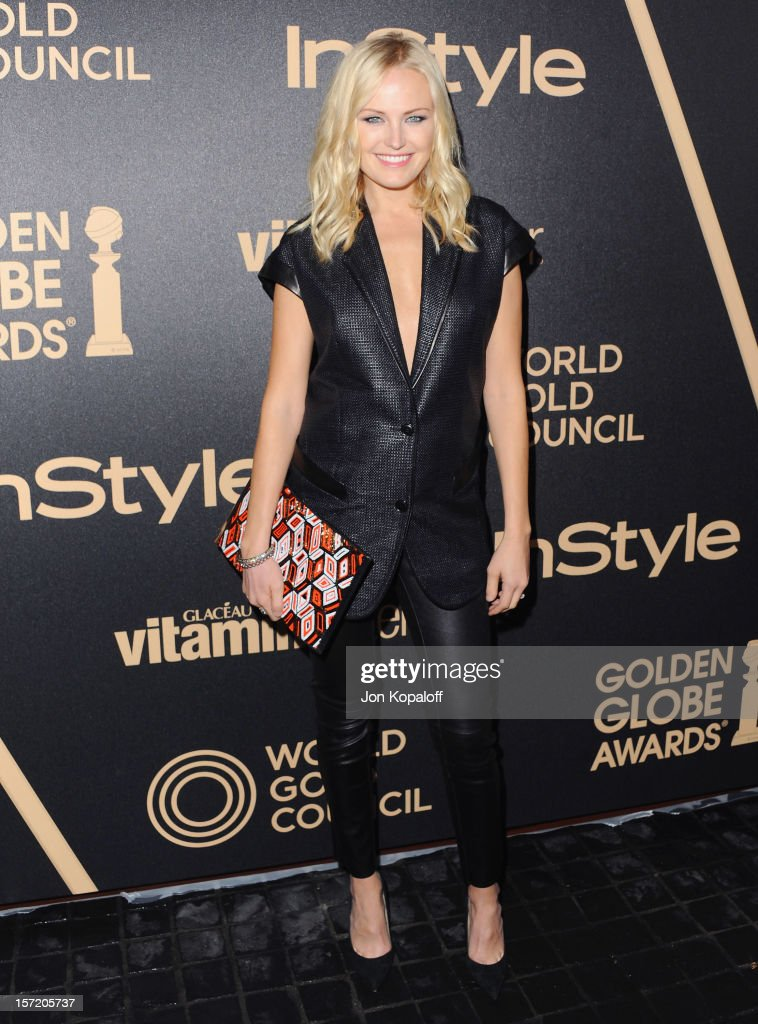 Actress <a gi-track='captionPersonalityLinkClicked' href=/galleries/search?phrase=Malin+Akerman&family=editorial&specificpeople=598245 ng-click='$event.stopPropagation()'>Malin Akerman</a> arrives at The Hollywood Foreign Press Association And InStyle Miss Golden Globe 2013 Party at Cecconi's Restaurant on November 29, 2012 in Los Angeles, California.