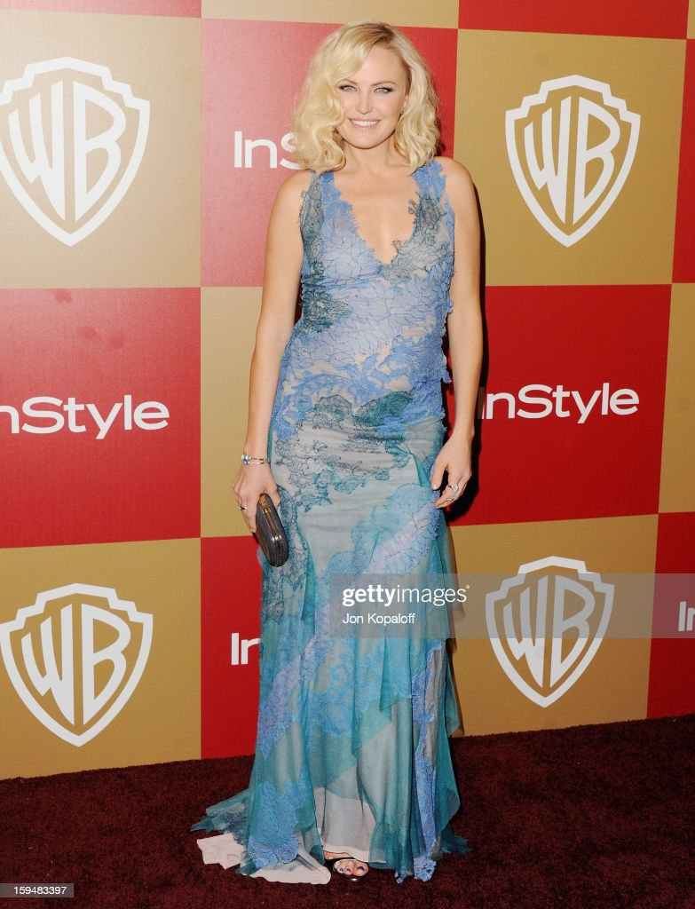 Actress <a gi-track='captionPersonalityLinkClicked' href=/galleries/search?phrase=Malin+Akerman&family=editorial&specificpeople=598245 ng-click='$event.stopPropagation()'>Malin Akerman</a> arrives at the InStyle And Warner Bros. Golden Globe Party at The Beverly Hilton Hotel on January 13, 2013 in Beverly Hills, California.