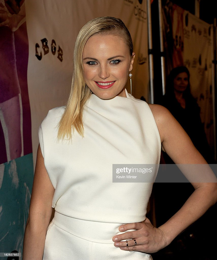 Actress Malin Akerman arrives at the screening of XLrator Media's 'CBGB' at the Arclight Theatre on October 1, 2013 in Los Angeles, California.