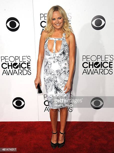 Actress Malin Akerman arrives for The 40th Annual People's Choice Awards Arrivals held at Nokia Theatre LA Live on January 8 2014 in Los Angeles...