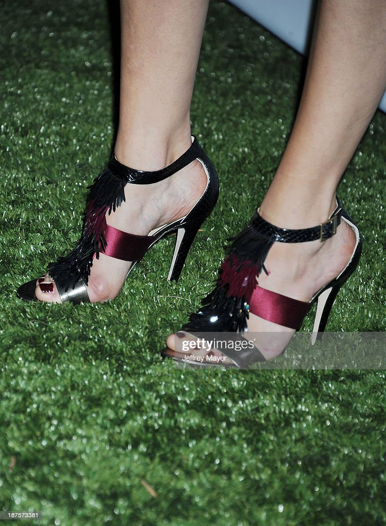Actress Malin Akerman (shoe detail) at the 2nd Annual Baby2Baby Gala at The Book Bindery on November 9, 2013 in Culver City, California.