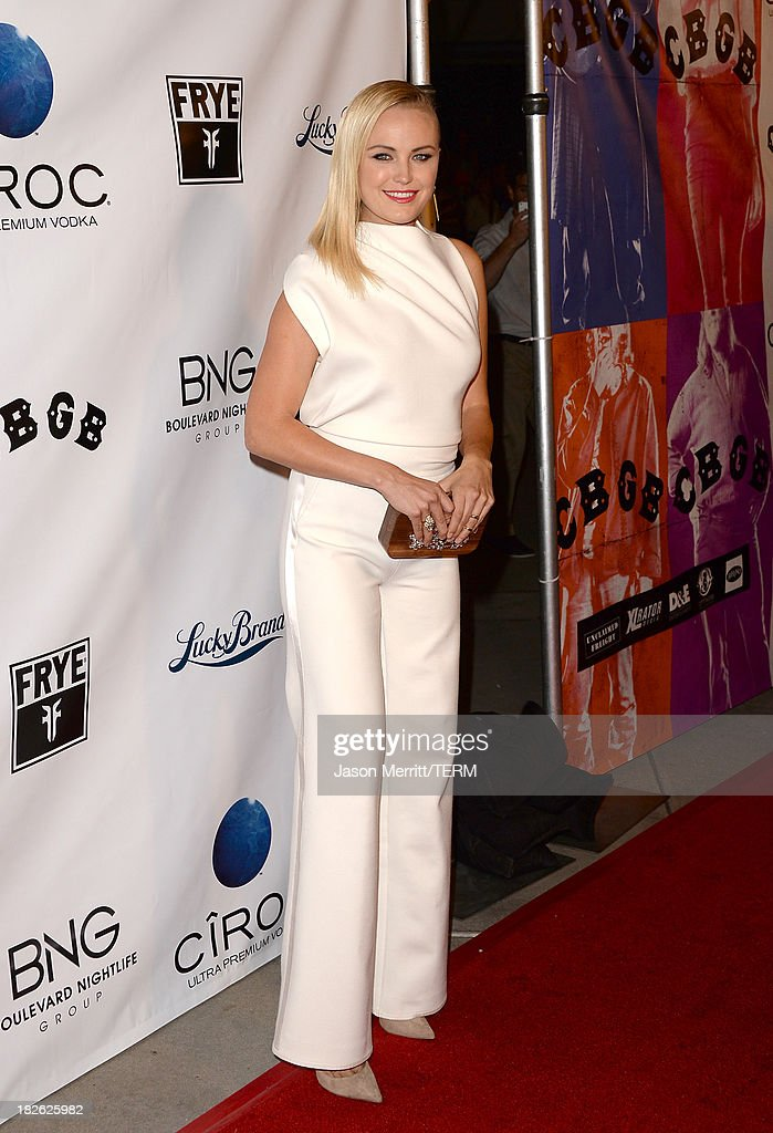 Actress Malin Akerman attends a screening of Xlrator Media's 'CBGB' at ArcLight Cinemas on October 1, 2013 in Hollywood, California.