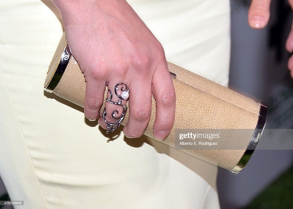 Actress Malin Akerman (clutch detail) attends Global Green USA's 11th Annual Pre-Oscar party at Avalon on February 26, 2014 in Hollywood, California.