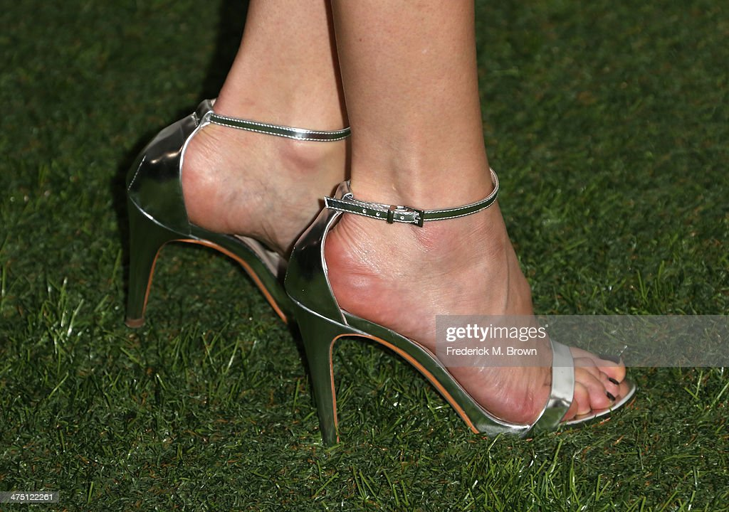 Actress Malin Akerman (shoe detail) attends Global Green USA's 11th Annual Pre-Oscar party at Avalon on February 26, 2014 in Hollywood, California.