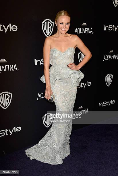 Actress Malin Akerman attends InStyle and Warner Bros 73rd Annual Golden Globe Awards PostParty at The Beverly Hilton Hotel on January 10 2016 in...