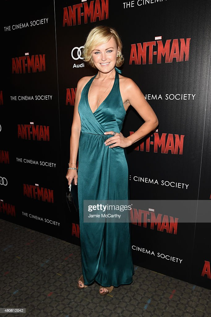 Actress Malin Akerman attends Marvel's screening of 'Ant-Man' hosted by The Cinema Society and Audi at SVA Theater on July 13, 2015 in New York City.