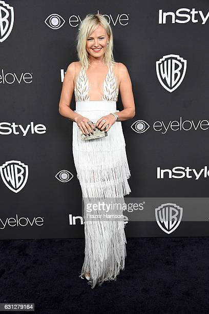 Actress Malin Akerman attends the 18th Annual PostGolden Globes Party hosted by Warner Bros Pictures and InStyle at The Beverly Hilton Hotel on...