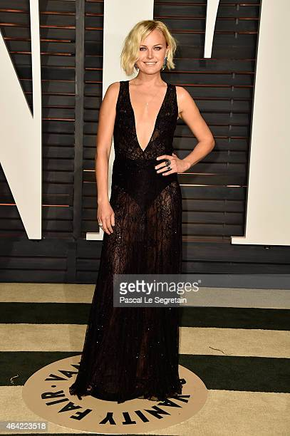Actress Malin Akerman attends the 2015 Vanity Fair Oscar Party hosted by Graydon Carter at Wallis Annenberg Center for the Performing Arts on...