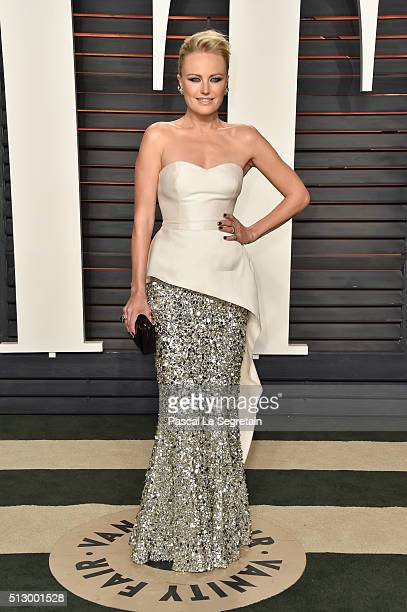 Actress Malin Akerman attends the 2016 Vanity Fair Oscar Party Hosted By Graydon Carter at the Wallis Annenberg Center for the Performing Arts on...