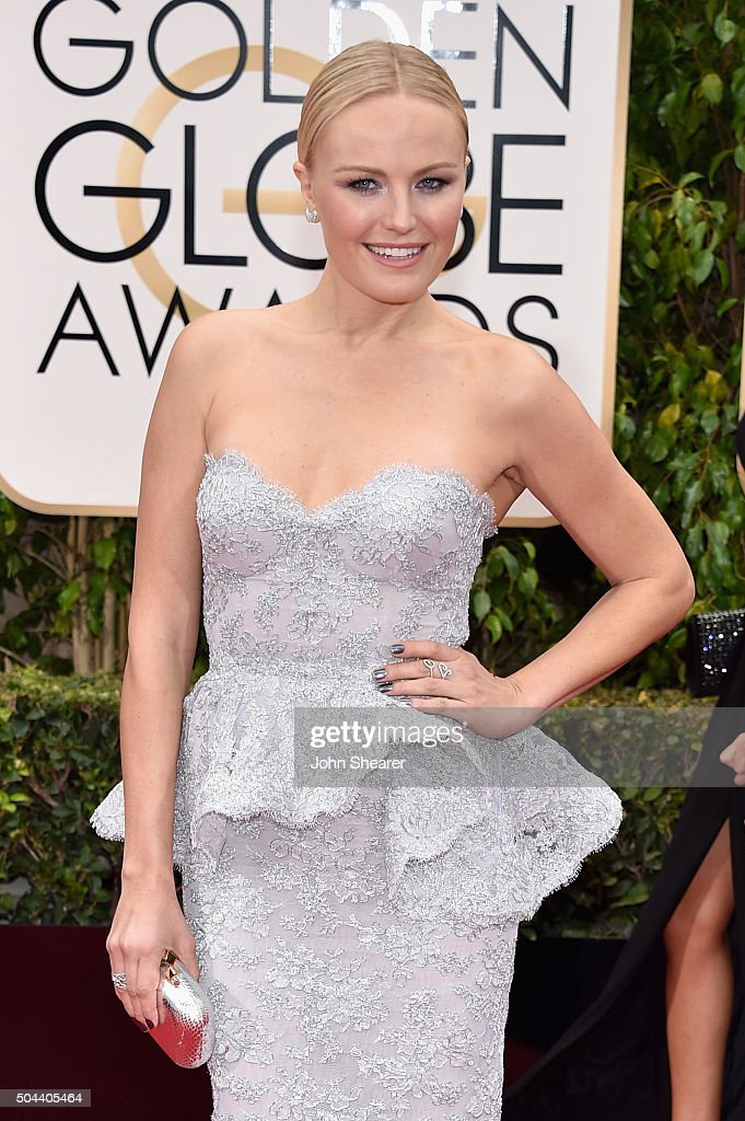 Actress Malin Akerman attends the 73rd Annual Golden Globe Awards held at the Beverly Hilton Hotel on January 10, 2016 in Beverly Hills, California.