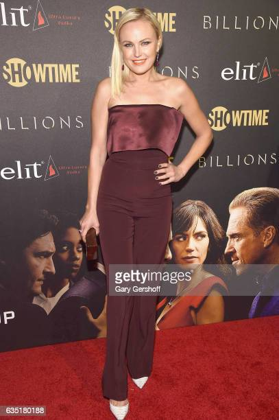 Actress Malin Akerman attends the 'Billions' Season 2 premiere at Cipriani 25 Broadway on February 13 2017 in New York City