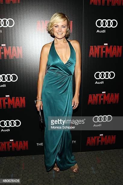 Actress Malin Akerman attends The Cinema Society and Audi host a screening of Marvel's 'AntMan' at SVA Theatre on July 13 2015 in New York City