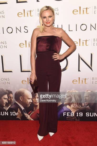 Actress Malin Akerman attends the Showtime and Elit Vodka hosted BILLIONS Season 2 premiere and party held at Cipriani's in New York City on February...