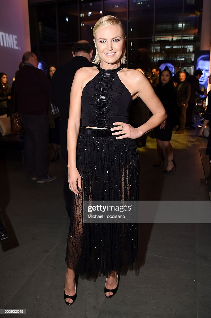 Actress Malin Akerman attends the Showtime series premiere of 'Billions' after party at The New York Museum of Modern Art on January 7 2016 in New...