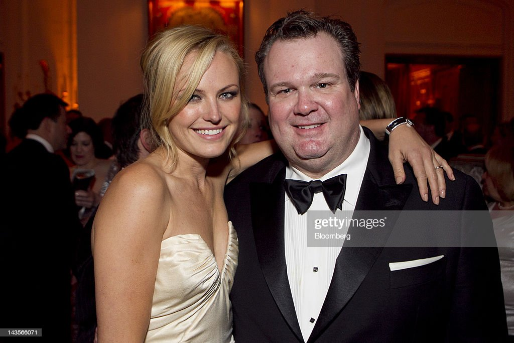Actress Malin Akerman, left, and actor Eric Stonestreet attend the Bloomberg Vanity Fair White House Correspondents' Association (WHCA) Dinner afterparty in Washington, D.C., U.S., on Saturday, April 28, 2012. The 98th annual dinner raises money for WHCA scholarships and honors the recipients of the organization's journalism awards. Photographer: Andrew Harrer/Bloomberg via Getty Images