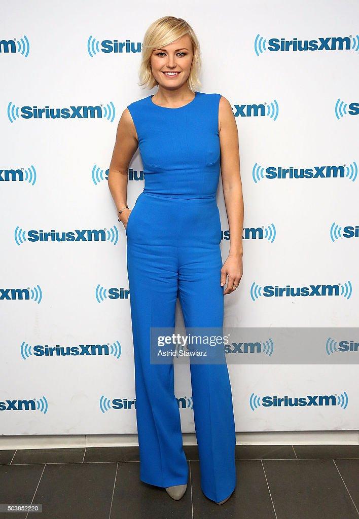 Actress Malin Akerman visits the SiriusXM Studios on January 7 2016 in New York City