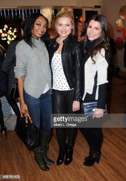 Actress Malina Moye actress Katherine Bailess and actress Jenna Lind attend TJ Scott's 'In The Tub' Book Party Launch to benefit UCLA's Jonsson...