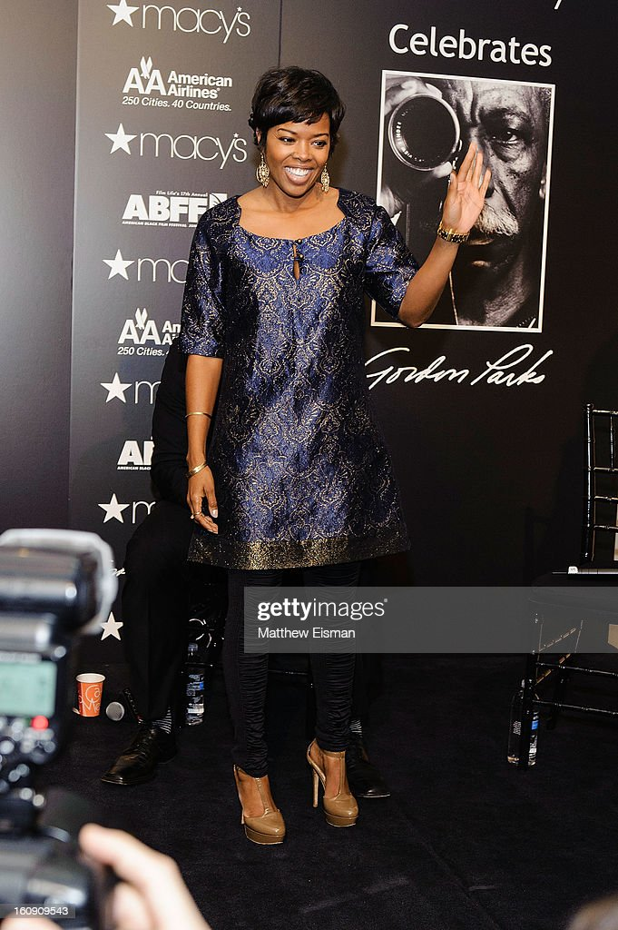 Actress <a gi-track='captionPersonalityLinkClicked' href=/galleries/search?phrase=Malinda+Williams&family=editorial&specificpeople=206346 ng-click='$event.stopPropagation()'>Malinda Williams</a> attends 'In Conversation' Honoring Gordon Parks at Macy's Herald Square on February 7, 2013 in New York City.