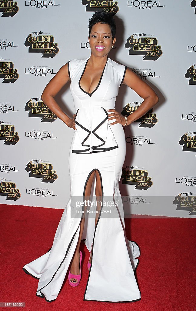 Actress <a gi-track='captionPersonalityLinkClicked' href=/galleries/search?phrase=Malinda+Williams&family=editorial&specificpeople=206346 ng-click='$event.stopPropagation()'>Malinda Williams</a> attends the Soul Train Awards 2013 at the Orleans Arena on November 8, 2013 in Las Vegas, Nevada.