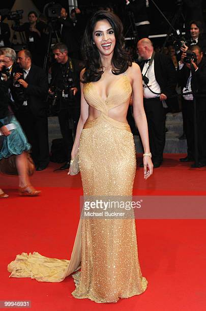Actress Mallika Sherawat attends the 'Certified Copy' Premiere at the Palais des Festivals during the 63rd Annual Cannes Film Festival on May 18 2010...