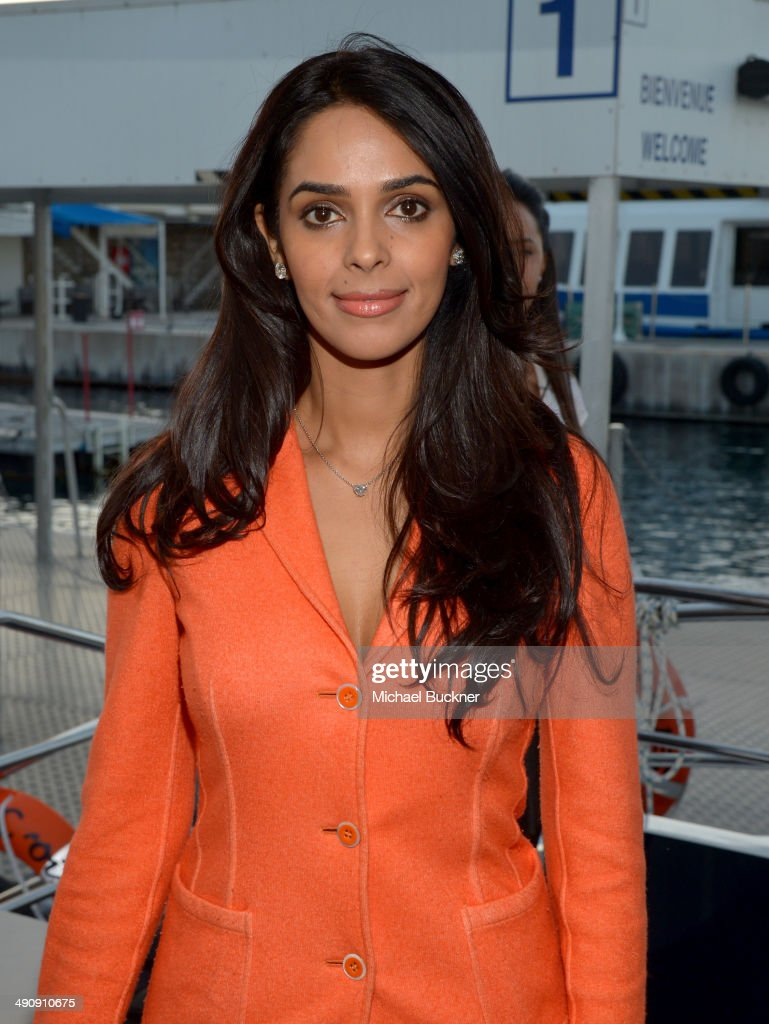 Actress <a gi-track='captionPersonalityLinkClicked' href=/galleries/search?phrase=Mallika+Sherawat&family=editorial&specificpeople=233692 ng-click='$event.stopPropagation()'>Mallika Sherawat</a> attends The India Party during the 67th Annual Cannes Film Festival on May 15, 2014 in Cannes, France.