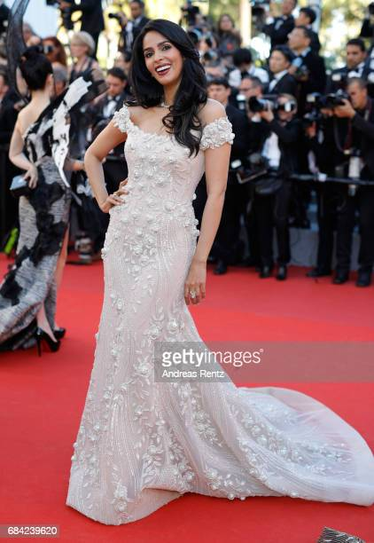 Actress Mallika Sherawat attends the 'Ismael's Ghosts ' screening and Opening Gala during the 70th annual Cannes Film Festival at Palais des...