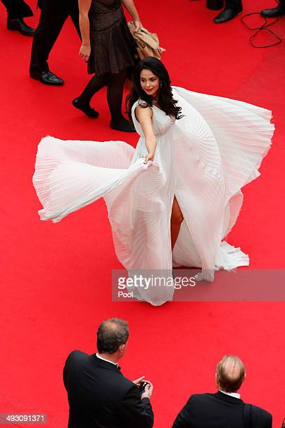 Actress Mallika Sherawat attends the 'Jimmy's Hall' premiere during the 67th Annual Cannes Film Festival on May 22 2014 in Cannes France