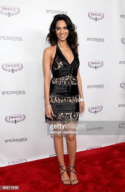 Actress Mallika Sherawat attends the launch of Persona magazine at The Griffin on September 11 2009 in New York City