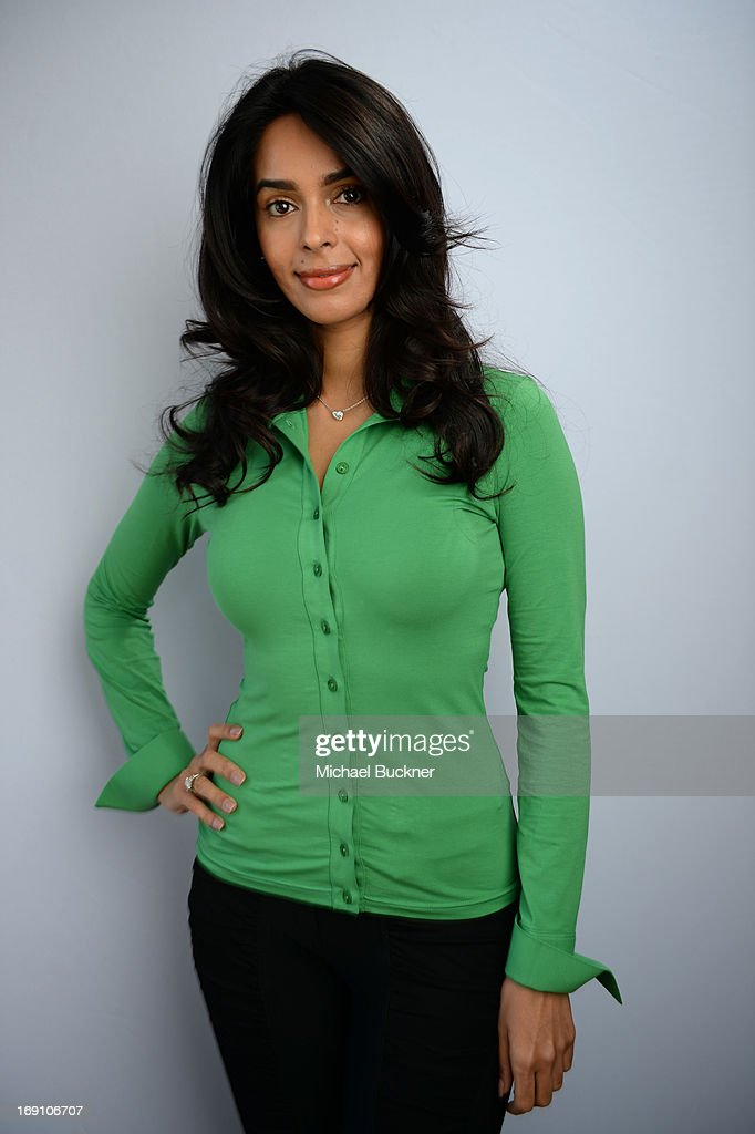 Actress <a gi-track='captionPersonalityLinkClicked' href=/galleries/search?phrase=Mallika+Sherawat&family=editorial&specificpeople=233692 ng-click='$event.stopPropagation()'>Mallika Sherawat</a> poses for a portrait at the Variety Studio at Chivas House on May 20, 2013 in Cannes, France.