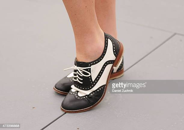 Actress Mallory Culbert is seen wearing vintage Oxfords at Frieze New York 2015 at Randalls Island Park on May 14 2015 in New York City