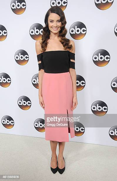Actress Mallory Jansen arrives at Disney ABC Television Group's TCA Winter Press Tour on January 14 2015 in Pasadena California
